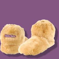 Habibi-Plush Wärmeschuhe (Boots) beige - Gr. M