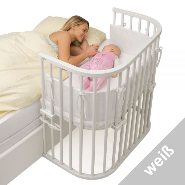 babybay®Boxspring - Massives Buchenholz seidenmatt weiß
