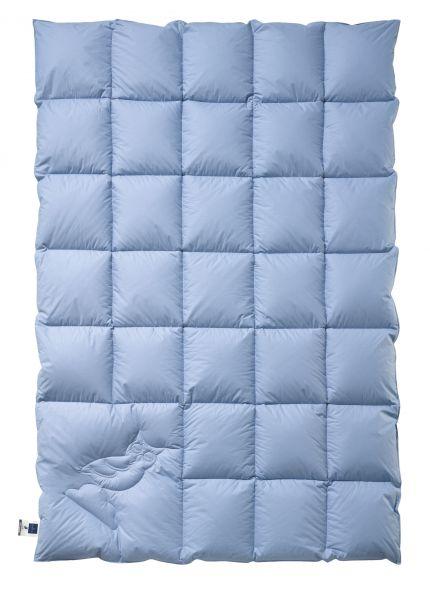 Billerbeck HERMINE® Mono - Ganzjahres Daunendecke mit einem Bezug in Jeans-blau
