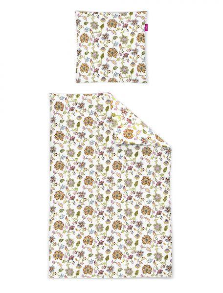 Freundin HOME COLLECTION - Toreno 8949-90 Seersucker Bettwäsche im 70er Jahre Blumenmuster