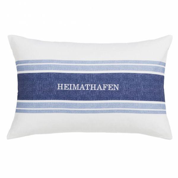 """ESTELLA Dekokissen """"Heimathafen"""" - weiß 100"""