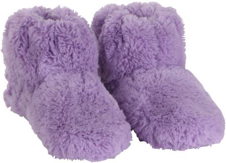 Habibi-Plush Wärmeschuhe (Boots) lila - Gr. M