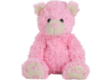 Habibi-Plush Wärmestofftier Teddy Bär rosa