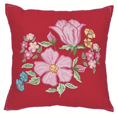 Room Seven bed & bath - Genevieve 29 Cushion red - Dekokissen