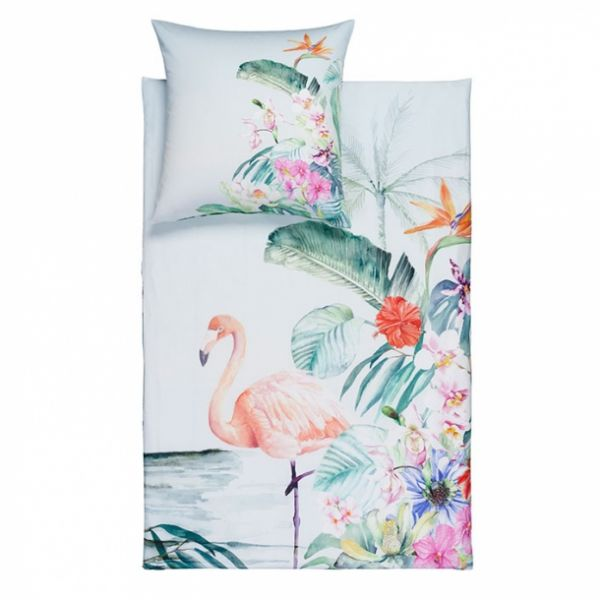 ESTELLA IMPULSE Bettwäsche Flamingo lagune 575 - Mako-Satin